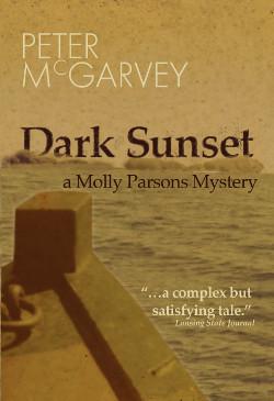 Dark Sunset Mystery Novel Book Cover